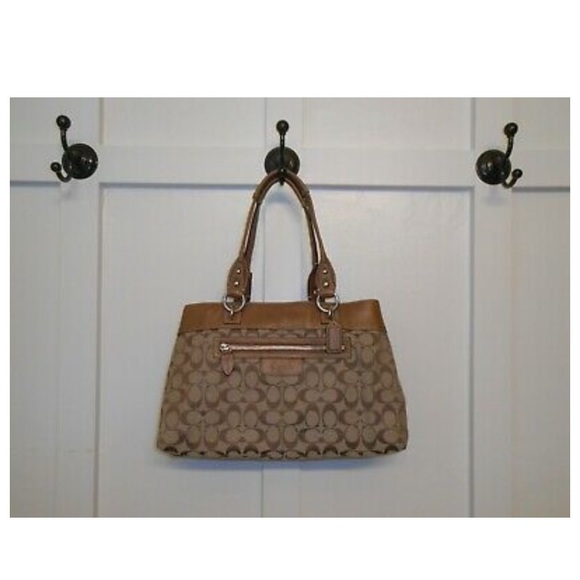 Coach Handbags - Coach Brown Penelope Signature  C Shopper Shoulder